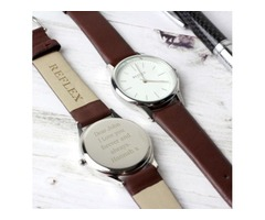 Personalised Unisex Silver Watch with Presentation Box | FreeAds.info