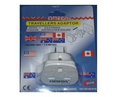 Travelers Adaptor in UK/USA/Australia