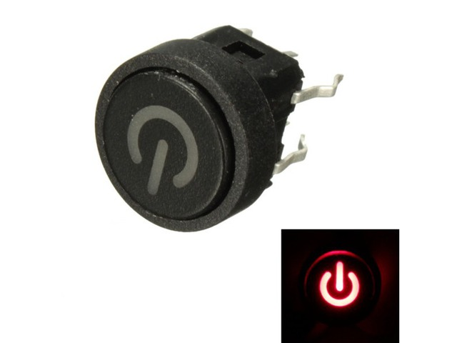 10Pcs Red LED Power Symbol Momentary Latching Switch LED Light Push Button SPST | FreeAds.info
