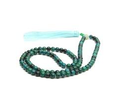108Pcs 6mm Dark Green Jade Prayer Beads Bracelet Necklace Jewelry