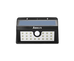 ARILUX® AL-SL 02 Wireless Solar Powered 20 LED Waterproof PIR Motion Sensor Outdoor Wall Light