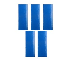 5Pcs Blue Self Adhesive Repair Tape Patch Waterproof for Tents Awning Kite Coats