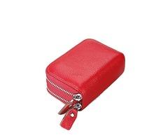 Women Men RFID Antimagnetic Genuine Leather Card Holder