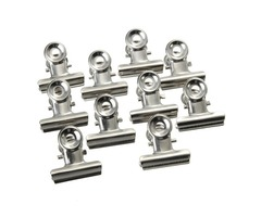 10Pcs 22mm Stainless Steel Silver Clip Letter Paper File Clamps