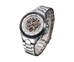 MCE 60275 Luxury Male Self-wind Mechanical Watches Stainless Steel Roman Numeral Wrist Watch