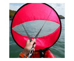 42 Inch Downwind Wind Paddle Popup Board Kayak Sail Wind Sail Accessories PVC Red