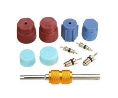 Air Conditioning A/C Service System Valve Core Cap With Remover Tool