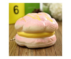 Squishy Cell Phone Charms Soft Cream Bread Bag Straps Hand Pillow