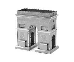 Aipin DIY 3D Puzzle Stainless Steel Model Kit Triumphal Arch Silver Color