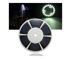 26LED Solar Powered Flag Pole IP67 Bright Night Light for Garden Yard