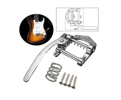 Zinc Alloy Guitar Tremolo Bridge Silver Vibrato Tailpiece for Electric Guitar