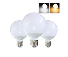 E27 8W 18 SMD 5730 LED Warm White Pure White Globe Light Lamp Bulb AC85-265V