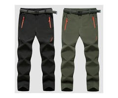 Plus Size M-6XL Outdooors Soft Shell Pants Quick Drying Sports Mens Windproof Waterproof Hiking Trou