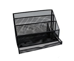 2pc Mesh Desk Organizer black