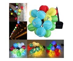 Solar Powered 30LED Lantern Fairy String Light Xmas Wedding Garden Lamp Home Decor