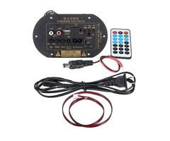 80W Subwoofer Hi-Fi Amplifier Board High Power Bluetooth Car TF USB 12V/24V/220V