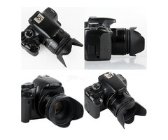 67mm Reversible Petal Flower Lens Hood Screw-On for Nikon Canon Olympus DSLR