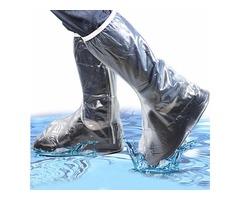 Men Women Rain Shoes Cover Waterproof High Boots Flats Slip Resistant Overshoes Rain Gear