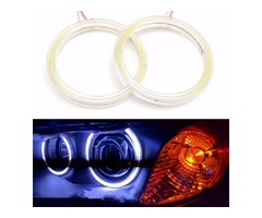 Pair 100mm 10W 12V 72SMD Outside White COB Angel Eye Ring Headlight Aperture