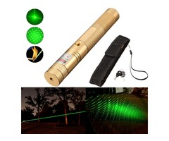 Adjust Burning 532nm Powerfull Green Light Pointer Pen Laser+Holster
