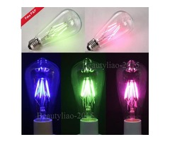 E27 Retro Edison Globe Bulbs 6W Screw LED COB Bulbs RGB Colorful Light Lamp Energy-Efficient AC220V