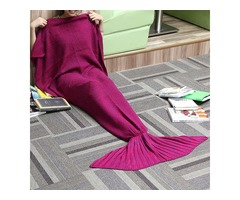 180x90CM Yarn Knitting Mermaid Tail Blanket Cashmese-like Warm Super Soft Sleep Bag Bed Mat