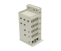 Models Railway Modern 5-Story Commercial Building Unpainted N Scale FOR GUNDAM