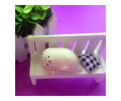 Sleeping Seal Squishy Squeeze Toy Cute Healing Kawaii Collection Stress Reliever Gift Decor