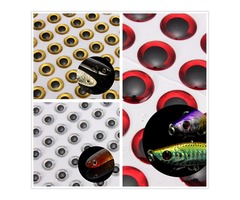 ZANLURE 100 6mm Red/Silver 3D Holographic Fishing Lure Eyes Fly Tying Jigs Crafts Baits
