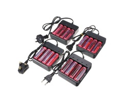 4pcs 4.2V 18650 3800mAh Li-ion Rechargeable Battery+ 18650 Universal Charger