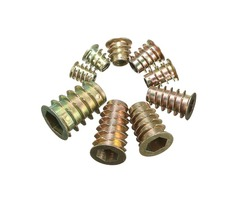 Hex Drive Screw In Threaded Insert Type D Nut For Wood with Flange M4/M5/M6/M8/M10