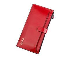 Women Ultra Thin Detachable PU Card Bag Elegant Wallet Purse Functional Phone Bag