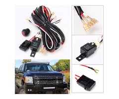 40A 300W Relay Fuse LED Light Bar Wiring Harness ON/OFF Switch for Off Road ATV/Jeep