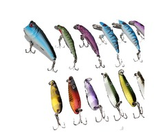 ZANLURE 30pcs Minnow Fishing Lures Spinner Spoon Bait Crankbaits Assorted Hook Tackle