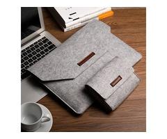 Soft Wool Felt Sleeve Bag Case Anti-scratch Cover Handbag For MacBook Air Pro Retina 11~15 Inch