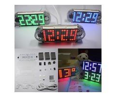 Geekcreit® DIY DS3231 Touch Key Precision High Brightness LED Dot Matrix Display Desktop Alarm Clock