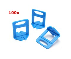 100Pcs Leveler Ceramic Clips Spacers Plastic Tile Wall Floor Leveling System Tool
