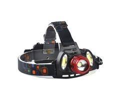 XANES 2305 1200 Lumens T6+2xCOB  Bicycle Headlamp Mechanical Zoom Adjustable Head Light