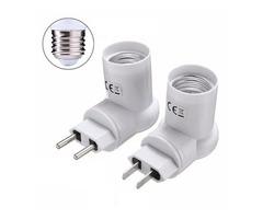 E27 Base Socket Adapter Converter PIR Motion Sensor Holder For LED Light Lamp Bulb AC110-240V