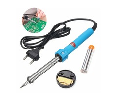 60W 220V Soldering Iron Kit Stand Sponge Desolder Pump Lead Free Solder Wire