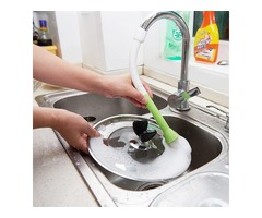 Water Saving Faucet Cleaning Brush Filter Vegetable Washing Brush Kitchen Taps Extended Shower Head