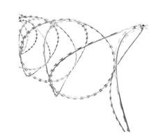 vidaXL Clipped Concertina Razor Wire Galvanised Steel- 141812 New