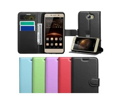 Wallet Leather Card holder PU Case Cover For Huawei Y6 Elite 4G / Y5II 2