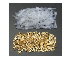 100pcs Copper 4.8mm Female Spade Crimp Terminals 22~16AWG