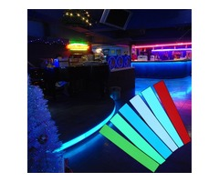 12X2 Inch 12V Flexible Electroluminescent Tape EL Panel Backlight Decorations Light with Inverter