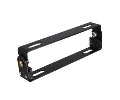 Motorcycle License Plate Black Frame Adjustable Holder Metal