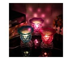 Creative Glass Electric Oil Burner Night light Fragrant Lamp 220V