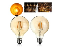 4W G95 E27/B22 Vintage Retro Industrial LED COB Edison Filament Incandescent Light Bulb