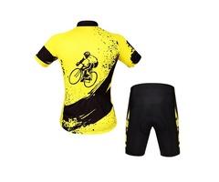 Aogda Men Unisex Breathable Comfortable Padded Short Sleeve Bike Cycling Clothing Set