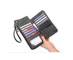 13 Card Slots Women Large Capacity Pu  Wallet Cell Phone Case